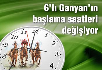 Altılı Ganyan saatleri güncellendi