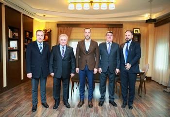 Kulübümüz Yönetim Kurulu, Silivri Belediye Başkanı Volkan Yılmaz'ı ziyaret etti