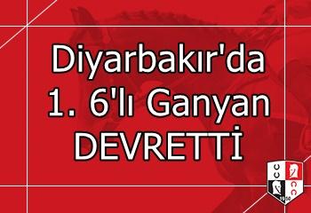 Diyarbakır'da 1. 6'lı Ganyan DEVRETTİ