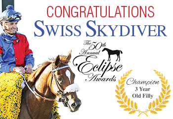 """Daredevil's Daughter Swiss Skydiver is named """"Champion 3-year-old Filly"""""""
