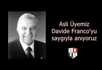 Merhum Asli Üyemiz Davide Franco'yu saygıyla anıyoruz