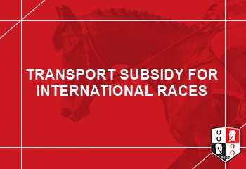 TRANSPORT SUBSIDY FOR INTERNATIONAL RACES